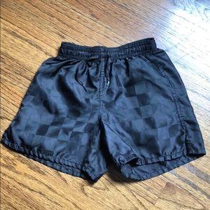 Boys Umbro black checkerboard soccer ⚽️ shorts